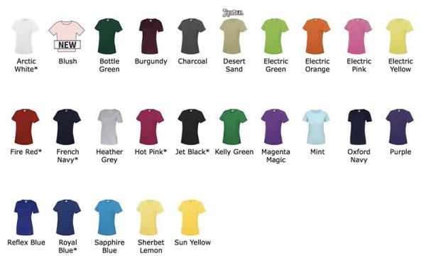 T shirt de sport femme personnalisé